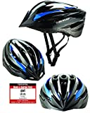 Fahrradhelm Dunlop HB13 für Damen, Herren, Kinder, EPS Innenschale, Abnehmbares Visier für optimalen Blendschutz, Leichter MTB City Bike Helm, besonders Luftig (M (55-58cm), Blau)