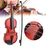 Nannday Giocattolo per Violino per Bambini, Giocattolo per Violino Acustico per Bambini simulato Corda Regolabile per Principianti Musicista Sviluppa la Pratica dello Strumento(1)