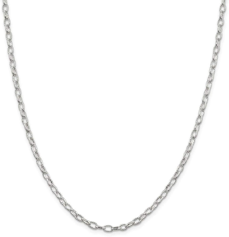 Beautiful Sterling silver 925 sterling Sterling Silver 3.75mm Fancy Rolo Chain