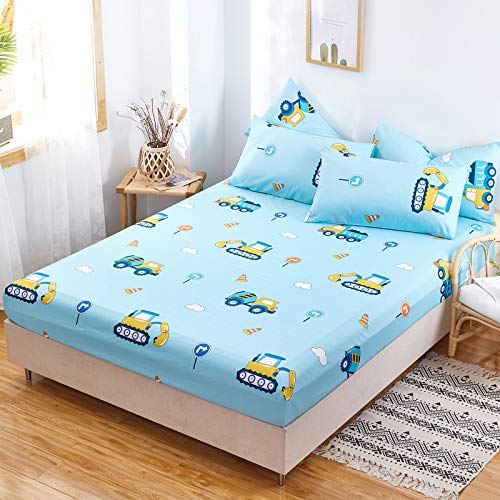 Xiaomizi Lujoso cojín inferior y dobladillo elástico que se adapta a tu cama hipoalergénica: 120 x 200 + 25 cm