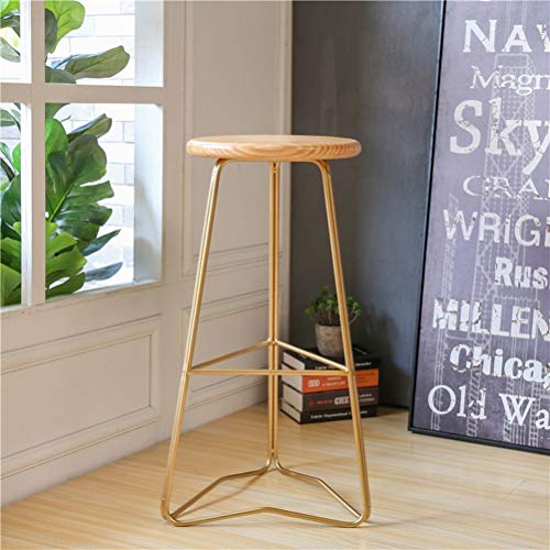 LRZS-Furniture Long café créatif Simple de Magasin de thé de Lait de Table adapté aux Besoins du Client avec la Table à Hautes Jambes et la Table et la Chaise étroite (Couleur : Or)