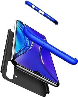 TiHen カバー OPPO Realme XT ケース薄型 360°フルカバー + 強化ガラス ィルム (2枚) PC ハードケース 耐衝撃 指紋防止 カバー おしゃれ かっこいい ケース 互換 OPPO Realme XT (ブラックブルー)