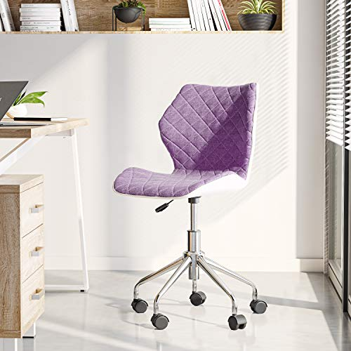 Techni Mobili Modern Height Adjustable Office Task Chair, Purple