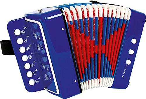 "small foot 3318 Akkordeon ""Blau"", fördert das Musik- und Taktgefühl, Musikinstrument mit Gurt, ab 3..."