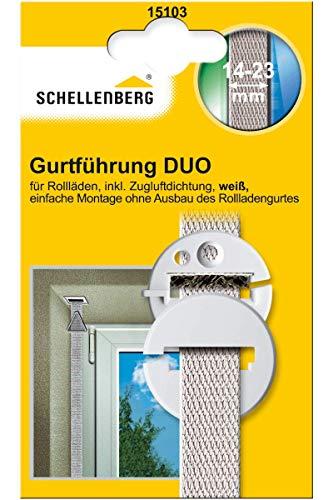 Schellenberg 15103 Gurtführung DUO rund mit Zugluftdichtung für Systeme MINI und Maxi (Rolladengurtband 14-23 mm Breite)