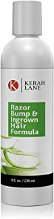 Kerah Lane Razor Bump & Ingrown Hair Natural Formula 8 Oz for Women & Men: Best Serum for Ingrown Hairs, Acne, Razor Bumps, Razor Burn: Use After Shaving, Waxing, Electrolysis & Hair Removal Treatment