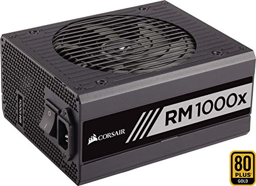 Corsair RM1000X PC Voeding, 80 Plus Goud, 1000 W, EU, Zwart