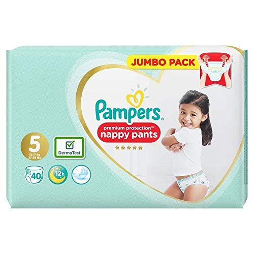Pampers Premium Protection Windelhosen, Größe 5, 12-17 kg, je 40 Stück
