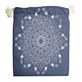 <span class='highlight'><span class='highlight'>Knowikonwn</span></span> 1 for 6 Dark Blue Mandela Canvas Bags Washable Produce Pouch Bags Suit for New Year Anniversary Gift Wrap - Pattern Print White 20 * 25cm