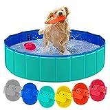 Forever Speed Hundepool,Doggy Pool,Katzenpool,Faltbares Pool,Kinderbadewann,Umweltfreundliche PVC/rutschfest/Gut Abgedichtet-Haustiere/Geschenke der Kinder (S/80x20cm, Grün)