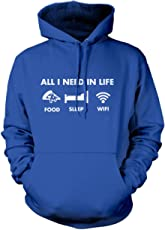 All I Need in Life - Pizza Sleep WiFi - Unisex Adults and Kids Hoodie