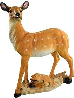 Danmu 1Pc Polyresin Deer Statue, Garden Statues, Outdoor Statues, Garden Ornaments, Yard Statue for Home and Garden Decor, Garden Art, Yard Art (47 x 16 x 45cm / 18.5