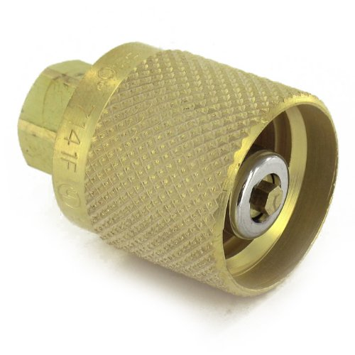 Rego 7141F Quick Disconnect Service Check Valve Connector, 1-1/4' ACME Female Inlet x 1/4' NPT Female Outlet