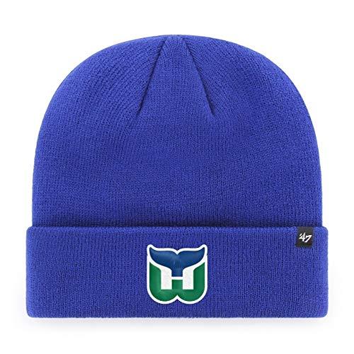 '47 Hartford Whalers Brand Cuffed Knit Beanie Hat - Blue