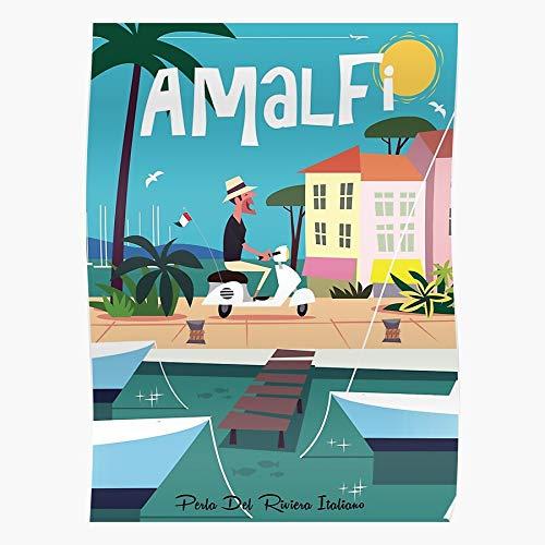 Generic Holiday Vacation Wine Italy Riviera Italian Amalfi Travel Home Decor Wandkunst drucken Poster !