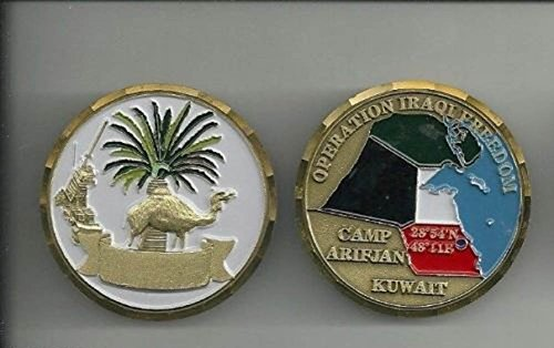 "Camp Arifijan Kuwait Operation Iraqi Freedom Oif 1.75"" Challenge Coin"