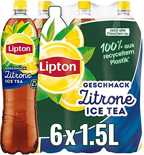 LIPTON ICE TEA Zitrone, Eistee mit Zitronen Geschmack (6 x 1.5l)