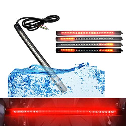 Qiorange LED Rücklicht Streifen 48LED Strip Licht Wasserdicht Lichtleiste Hecktür Tagfahrlicht Rücklicht Blinker Bremse Umdrehungs Signal Schwanz Streifen Licht DC 12V (48 SMD)