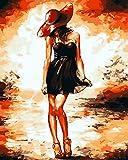 Wcyljrb Lienzo De Pintura Niña Feliz Adulto Y Niños Lienzo Lienzo Acrílico Artista De Pared Decoración Del Hogar Regalo-16 X 20 Pulgadas (Sin Marco)