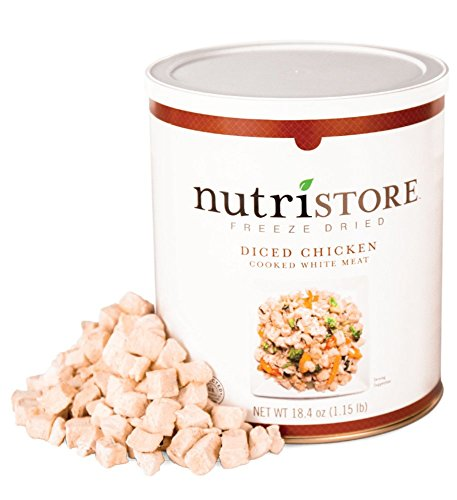 Nutristore Freeze-Dried Chicken | Emergency Survival Bulk Food Storage | 20 Servings Quality White Chicken | Perfect for Lightweight Backpacking or Home Meals | USDA Inspected
