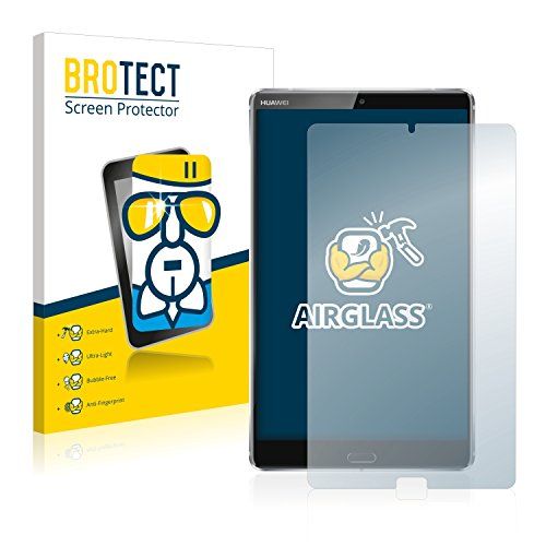 BROTECT Panzerglas Schutzfolie kompatibel mit Huawei MediaPad M5 8.4 - AirGlass, 9H Festigkeit, Anti-Fingerprint, HD-Clear