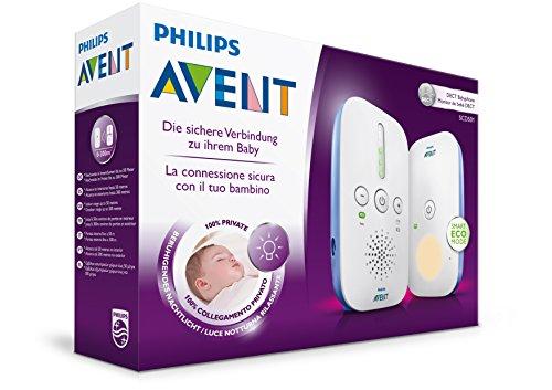 Philips Avent SCD501/00 - Vigilabebés digital con tecnología DECT con luz nocturna, alcance hasta 300 m