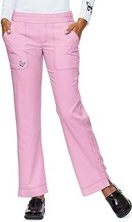 Mariposa by Koi Women's Maddi Yoga-Style 4 Pocket Pant- Pink Sachet- Small Petite