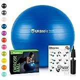 Ballon De Gym (Tailles Multiples) Ballon Suisse Pour La Forme Physique, La Stabilité, L'équilibre Et Le Yoga-Guide D'entraînement Et Pompe Rapide Inclus-Design De Qualité Professionnel Anti-Eclatement