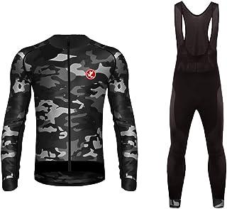 comprar comparacion Uglyfrog 2019-2020 MTB Nuevo De Invierno Mantener Caliente Hombre Manga Larga Maillot Ciclismo +Bib Pantalones Sets with G...