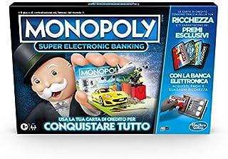 Monopoly Super Electronic Banking (Juego en Caja con Lector electrónico Hasbro Gaming, versión en Italiano).: Amazon.es: Juguetes y juegos