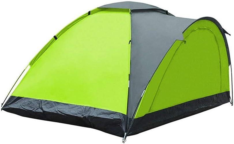 Jkl000-tent Camping en Plein Air Tente 2 Personnes Ultra-léger écran Solaire Portable étanche Famille Amis Voyage Plage Pique-Nique Parc Pelouse Vert