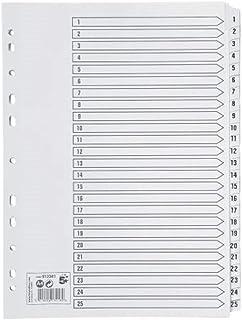 25 Alphabet Tabs Letter Set of 25 Universal 20821 Leather-Look Mylar Tab Dividers Black//Gold