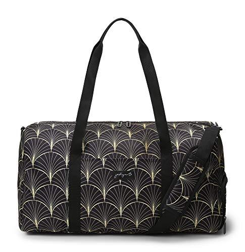 Jadyn B Weekender Bag - 56 cm./22 inch - 52L - Duffel Bag with Shoe Pocket (Deco Frond)