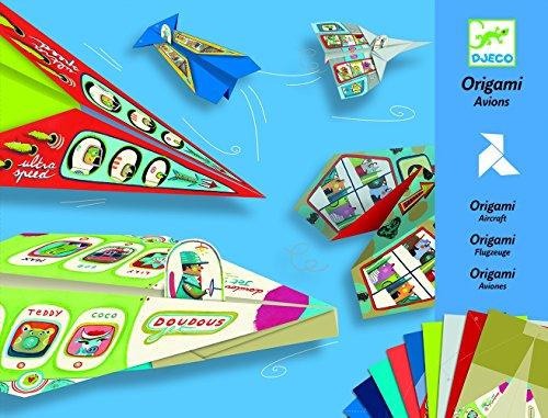 Djeco DJ08760 Planes Origami vlieger vliegtuigen modelvliegtuig van papier, multicolour