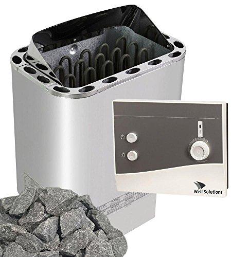 Well Solutions Saunaofen Edelstahl Next 6 kW / Externer Sauna Steuerung K1 auch K1-1 genannt / Original Marke Well Solutions®