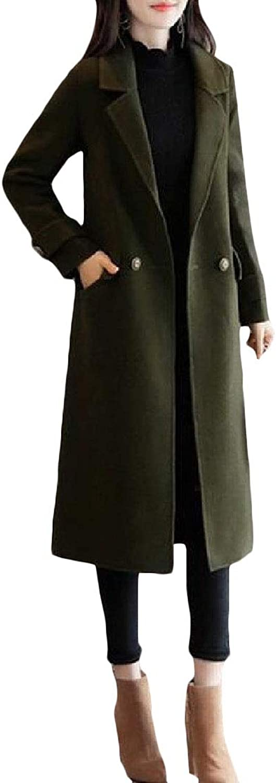 Pandapang Women's Outwear Winter Classic Fit WoolBlend Thicken Pea Coat