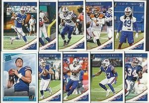 2018 Panini Donruss Football Buffalo Bills Team Set 10 Cards W/Drafted Rookies Josh Allen Rookie Card