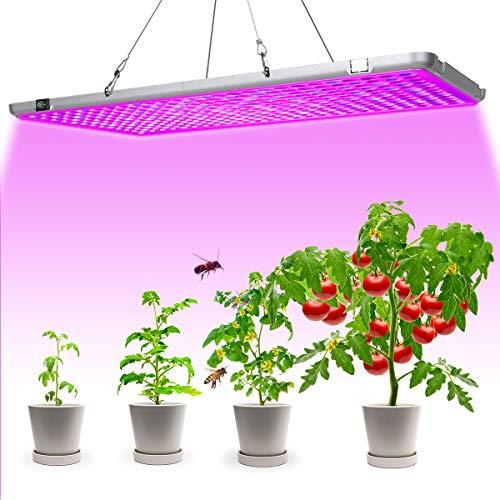 Bozily Pflanzenlampe LED, Klappbare 300W Pflanzenlicht Vollspektrum, Wachsen licht Grow Lampe mit 338 LEDs, Pflanzenleuchte für Zimmerpflanzen, Gemüse Blumen, Fruchten und Blüte, 56x30 x1,8cm