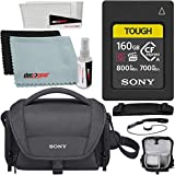 Sony CEA-G160T 160GB CFexpress Type A Memory Card (Tough CEAG160T) Bundle LCSU21 Protective Camera Case - Black + Deco Gear Accessories Microfiber Electronics Cloth, Screen Protector Kit