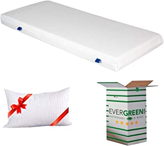 EVERGREENWEB - Matelas en Mousse Ultra-Confortable 7 Zones, Moyen Matelas Simple 120x190 orthopédique Épaisseur de 15 cm a...