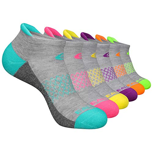 Eallco Womens Ankle Socks 6 Pairs Running Athletic Cushioned Socks