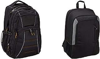 Amazon Basics - Mochila para ordenador portátil de hasta 17pulgadas (43cm), Negro + Mochila para portátil de 15 pulgadas - Color Negro