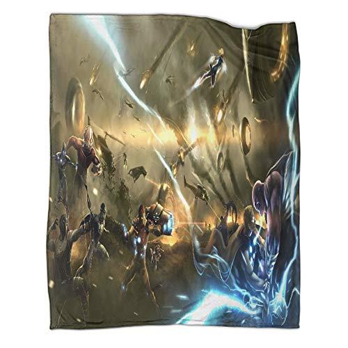 Xaviera Doherty Avengers Infinity War Iron Man Thor Capitán Marvel, manta de viaje ligera, 130 x 180 cm, manta individual casual en invierno