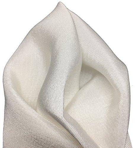 Gentleman: Edles weißes Einstecktuch 100% Seide