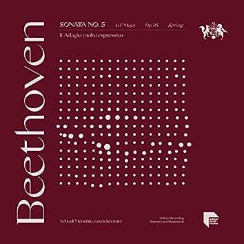 """Beethoven: Sonata No. 5 in F Major, Op. 24 """"Spring"""": II. Adagio molto espressivo"""