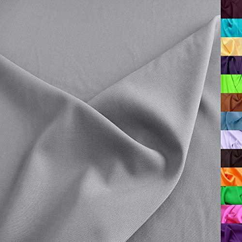 TOLKO Modestoff | Dekostoff universal Stoff zum Nähen Dekorieren | Blickdicht, knitterarm | 150cm breit Meterware (Hell Grau) Bekleidungsstoffe Dekostoffe Vorhangstoffe Nähstoffe Basteln Patchwork Deko
