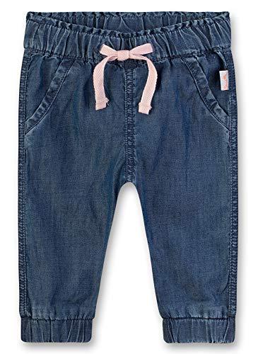 Sanetta Baby-Mädchen Webstoff Hose, Blau (Light Blue 9552), 74 (Herstellergröße: 074)