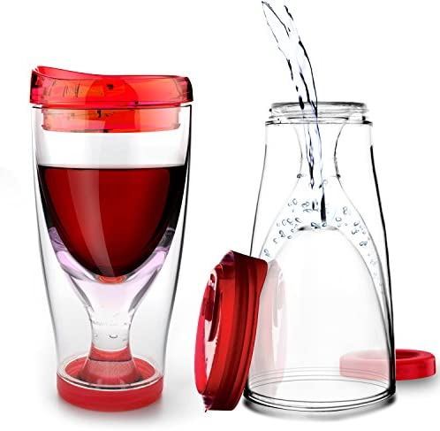 Chill Vino 2 Go Insulated Wine Tumbler 10 Ounce Red product image