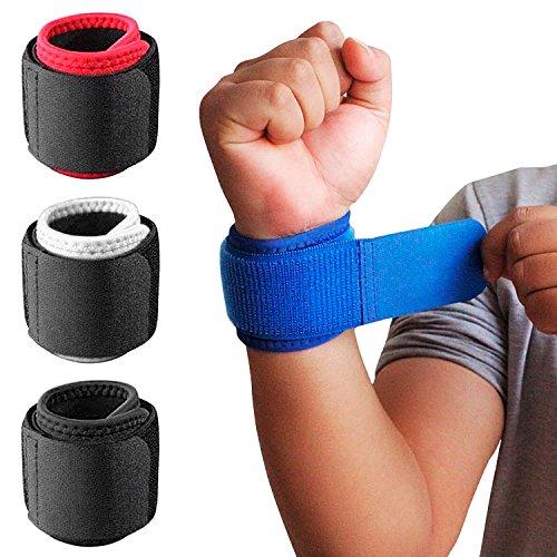 1 Paar Handgelenkbandagen mit verstellbarem Riemen zur Unterstützung und Stabilisierung beim Sport und Fitness Schwarz