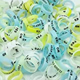 Glow in The Dark Vape Bands Rings - CENGLORY Vape Rings Silicone Anti Slip Band - for RBA RDA Tank Mechanical Mods - Diameter 22mm(20pcs)